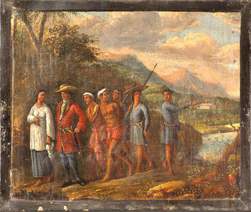 Dutch Family with Slaves